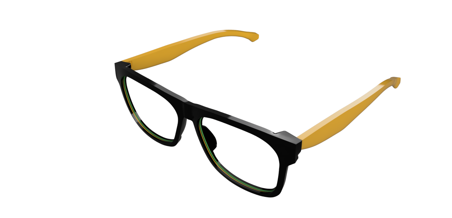 3 boyutlu ortamda üretime hazır gözlük prototipi