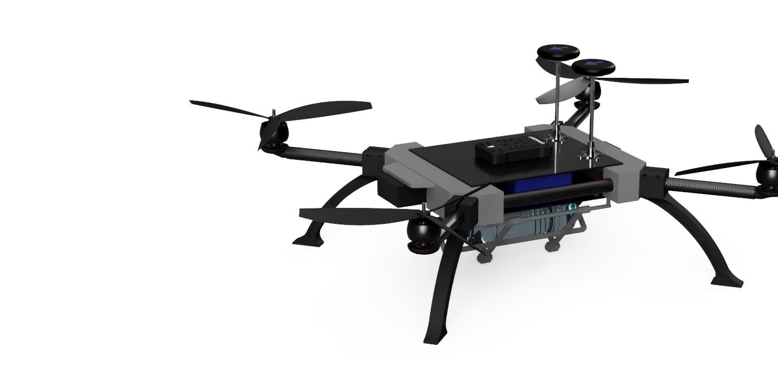 3 boyutlu ortamda hazırlanmış İHA/Drone tasarımı
