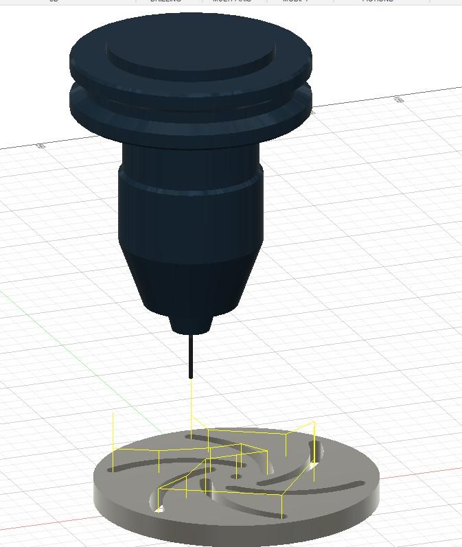 3 boyutlu ortamda tasarlanmış parçanın cnc ile talaş alma simülasyonu